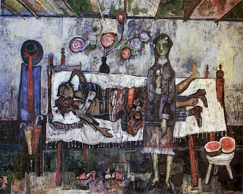 La Celestina pequeña, 1996 Acrílico sobre tela 150 x 180