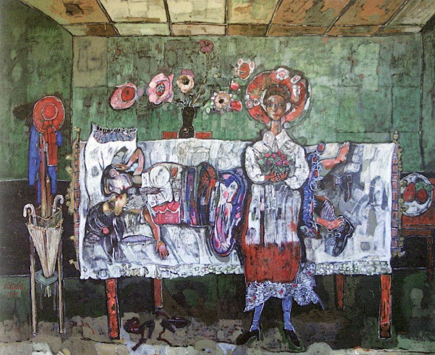 La Celestina grande, 1995 Acrílico sobre tela 180 x 220