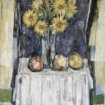 Flores amarillas, 2006 Óleo sobre tela 80 x 90 cm